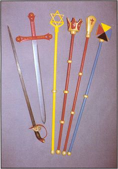 Officer tools of the Hermetic Order of the Golden Dawn