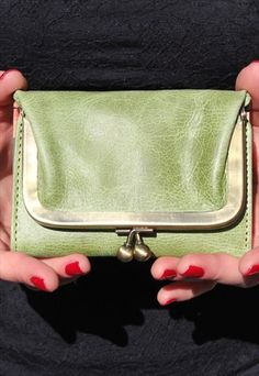 Evanna+Clipframe+Wallet+in+Apple+Green+and+Floral+Inside