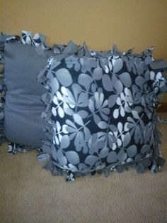 I've been making the no sew blankets for awhile and now I am going to start pillows next(: