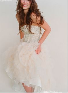 Trending Wedding reception dress Kirstie Kelly Couture Wedding Dresses Photographed by Elizabeth Messina on Style Unveiled