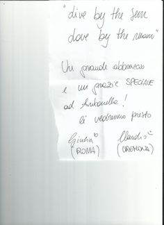 Grazie a Giulia e Claudio