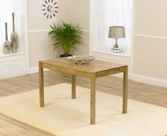 Buy the Oxford 120cm Solid Oak Dining Table at Oak Furniture Superstore
