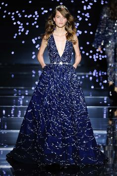 Blue ball gown. Zuhair Murad Fall 2015 Couture.