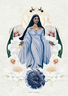 Iemanjá Orisha, African Mythology, African Goddess, Muse Art, Sacred Feminine, Angel Pictures, Madonna And Child, Sister Tattoos, Insta Photo Ideas