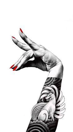 Juxtapoz Magazine - The Ballpoint Pen Illustrations of Shohei Otomo Tattoo Cover, Desu Desu, Art Magique, Tattoo Artwork, Ballpoint Pen Drawing, Art Asiatique, Home Tattoo, Tattoo Arm, Manga Artist