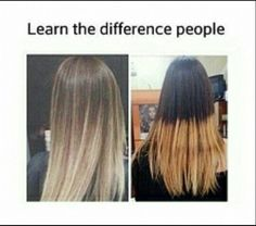 Learn the difference people! Good ombre hair vs Bad ombre hair!