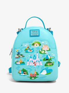 Loungefly Disneyland 65th Anniversary Convertible Mini Backpack - BoxLunch Exclusive Disneyland Anniversary, 65th Anniversary, Disney Handbags, Disney Purse, Mini Backpack, Jansport Backpack, Sleeping Beauty Castle, Disney Merchandise, Merchandise Bags