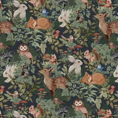 Digitally illustrated pattern repeat for Jimmy Cricket Wallpapers. Available to purchase in either Deep Teal, Dusty Blue or Charcoal here. Boat Wallpaper, Rustic Wallpaper, Cricket Wallpapers, Estilo Tropical, Water Based Stain, Woodland Nursery, Designer Wallpaper, Kids Room, Illustration Art