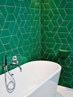 Salle de bains, Hôtel des Galeries à Bruxelles © Yoann Stoeckel