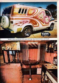 Custom Dodge van The 70's where awesome. Shaggin waggin
