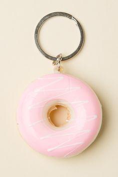 Brandy ♥ Melville   Strawberry Frosting Donut Keychain - Accessories