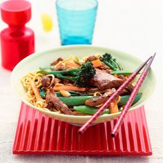 Pork and teriyaki stir-fry