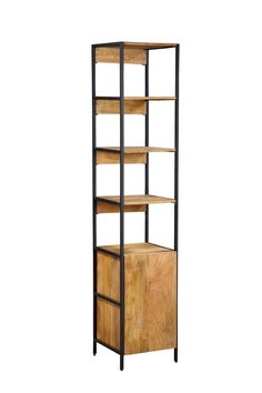 Open Plus Closed Storage Unit Standard Bookcase Solid Wood Shelves, Wooden Shelves, Boys Industrial Bedroom, Contemporary Bookcase, Etagere Bookcase, Kitchen Cabinets In Bathroom, Adjustable Shelving, All Modern, Office Furniture