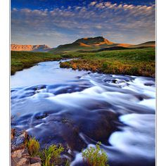 Sunrise in the Drakensberg mountains, South Africa