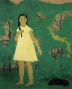 高山 辰雄 『少女』 1949年  (Tatsuo Takayama)