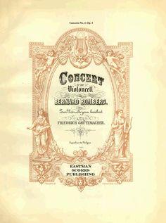 Romberg, Bernhard : Concerto No. 2, fur das Violoncello. Zum Unterricht genau bezeichnet van Friedrich Grutzmacher. Op. 3