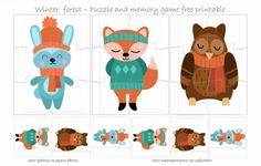 WINTER FOREST #PUZZLE - FREE PRINTABLE