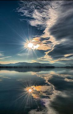 Sun sets over Lake of Constanze by Ingo Kremmel (Austria)