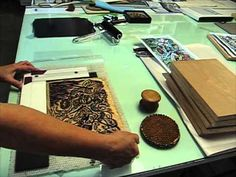 How to transfer the design from a key relief block onto the color blocks to make a color woodcut or woodblock print, using mylar or transparency and a registration board. Woodblock Print, Printmaking, Color Blocking, Key, Lino Prints, Graphics, Inspiration, Youtube, Action