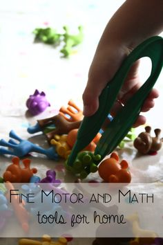 Over the summer vacation I had two goals to work on with J and T. With J we had been asked by his reception year (kindergarten) teacher to focus on fine motor skills and with T I wanted to work on colours and numbers some early math skills. So finding tools that I could work on these areas with the kids was important goal for the summer.  Learning resources is a favourite educational toy and equipment company of ours from my home town in the UK and among their collection they have some ...