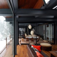charcoal snow cabin