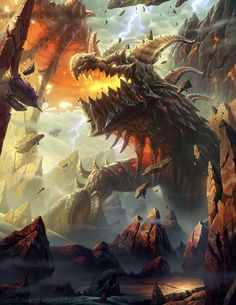 World of Warcraft Tribute Book Image-Deathwing by UnidColor on deviantART