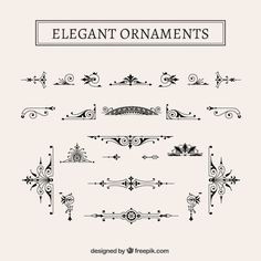 Pack de ornamentos elegantes vintage Vector Gratis