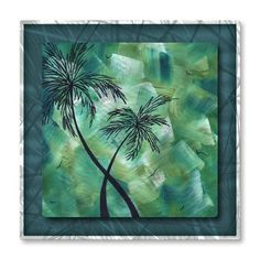 Caribbean Swirl Palm Tree Art
