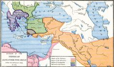 Division of the Empire of Alexander the Great after the Battle of Ipsus