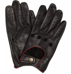 Dents. Suede-Lined Leather Driving Gloves