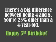 Math Related 5th Birthday Wish