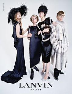 Lanvin Herbst/Winter 2014/15: Edie Campbell und ihre Verwandtschaft | #Fashion Insider Magazin - Dass Model #Edie #Campbell das Gesicht der Herbst/Winter-Kollektion 2014/15 von Lanvin ist, dürfte keinen wirklich verwundern.