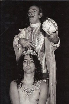 Salvador Dali and Alice Cooper...surreal beyond imagining....