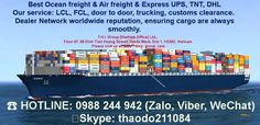 ❗ Being one of the leading International Freight Forwarders. Provide the best and diversified ocean freight and air freight services.!!! ❗ Our operations team in Vietnam ensures all shipments information and documents are well prepared and followed up so that cargo can be delivered to consignees on time and in good condition.  ☎ HOTLINE: 0988 244 942 (Zalo, Viber, WeChat, Whatup) ⭐⭐ Skype: thaodo211084  👉 Email: jenifer.thao@gmail.com // tracydo@t3ex-thi.com ➡…