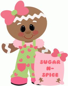 gingerbread girl sugar & spice-----------------------I think I'm in love with this shape from the Silhouette Online Store!