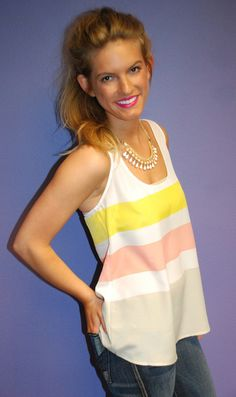 Boardwalk Babe Tank on Impressions Online Boutique