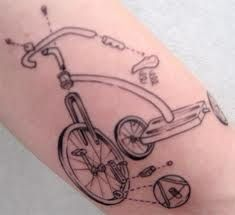 Tricycle Tattoo Ink, Love how it is taken apart