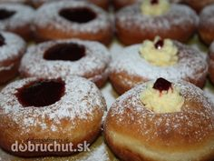 Sweet fried pastry from risen dough are typical Fasiangy main dish along meat ware from freshly killed pig done my hand Czech Recipes, Mardi Gras, Doughnut, Rum, Main Dishes, Meat, Baking, Czech Food, Foods