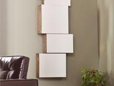 Mirrored Wall Mount Storage Box 5pc Set