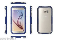Waterproof Shockproof Back Clear Case Hard Cover Skin For Samsung Galaxy S6 Edge