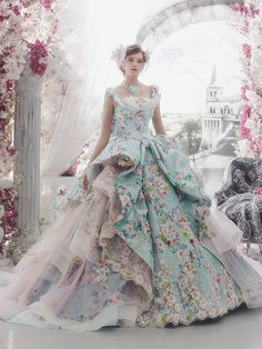 @Maysociety 32 Colorful Wedding Dresses by Stella De Libero