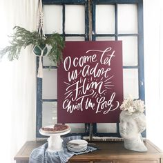 """Myquillyn Smith on Instagram: """"The first nod to Christmas at our place, but I might just keep it out all year. @lindsay_letters even gave me a coupon code to share --have you SEEN her new holiday collection?! Save 10% with code: NESTER10"""""""