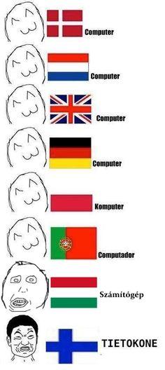 der Computer in verschiedenen Sprachen