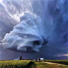 Unbelievably best shot of storm . supercell near Leoti, Kansas by Earth Wonders Beautiful Sky, Beautiful World, Nature Pictures, Cool Pictures, Dame Nature, Wild Weather, Sky And Clouds, Storm Clouds, Natural Phenomena