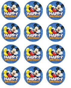 Edible cupcake toppers frosting sheet  Mickey Mouse  by Eyecandey, $9.50
