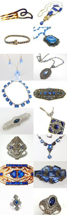 Art Deco in Blue - a Vogueteam Treasury by Sally on Etsy--Pinned+with+TreasuryPin.com