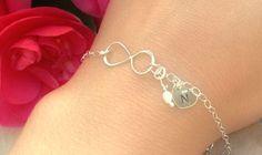 infinity bracelet personalized bracelet mother by natashaaloha, $40.00