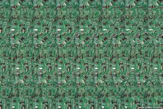 Stereogram by 3Dimka: Bio CPU. Tags: brain, chip, electronics, board, hidden 3D picture (SIRDS)