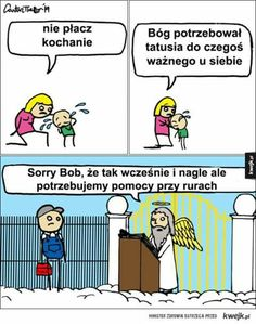 God needed daddy for something important in heaven. Very Funny Memes, Wtf Funny, Funny Shit, Top Memes, Best Memes, Christian Cartoons, Crazy Funny Pictures, Uber Humor, Funny Comics