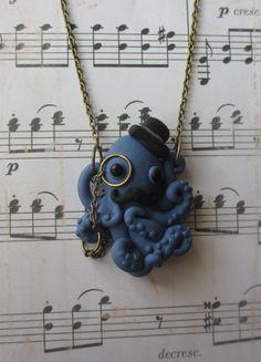 Dapper Octopus Halskette - blau